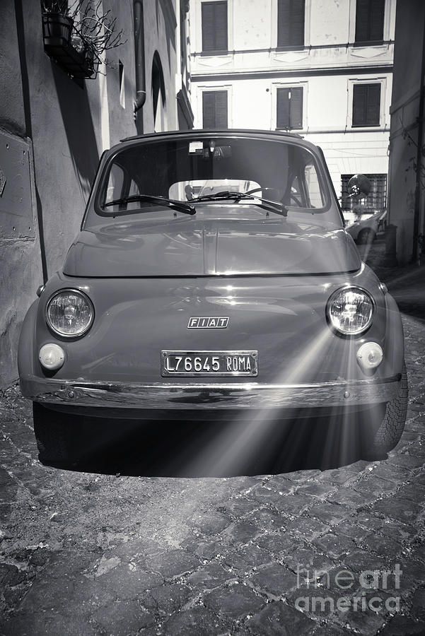 F I A T Cinquecento Classic Car in Black and White by Stefano Senise