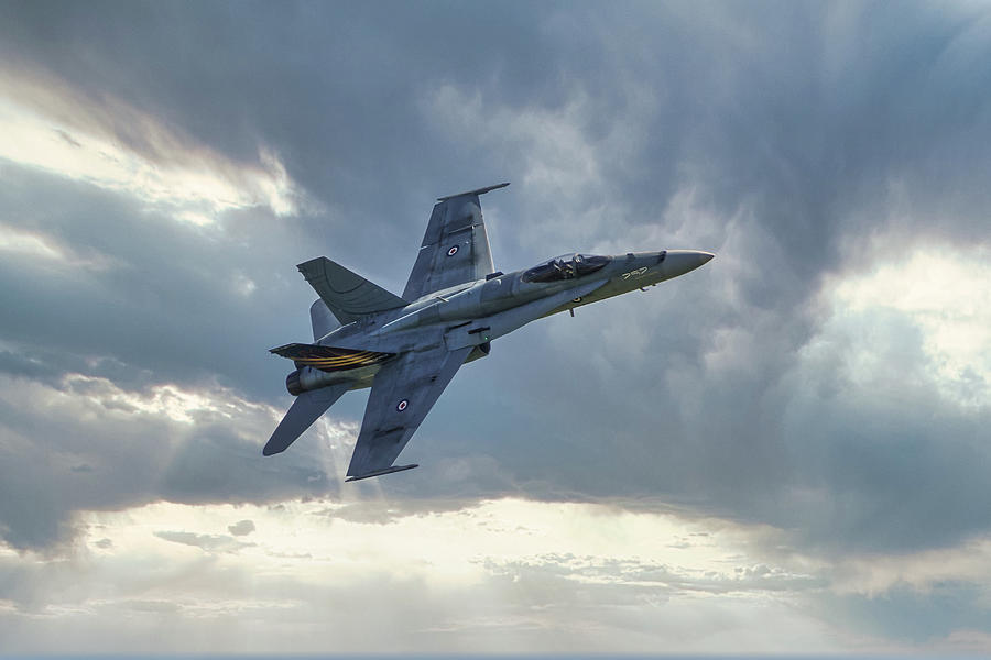 F18 Hornet, Military fighter Aircraft Photograph by Rick ...