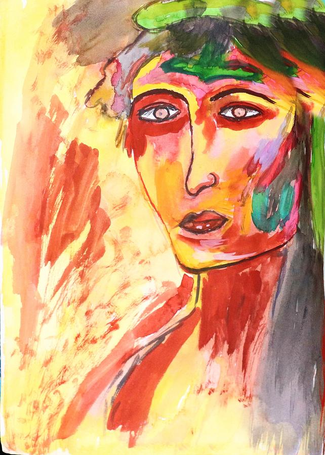Face Abstract 13 Painting