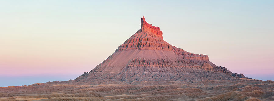 Factory Butte Photograph - Factory Butte Panorama by Johnny Adolphson