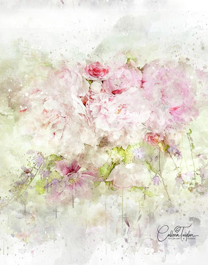Fading Blossoms Mixed Media