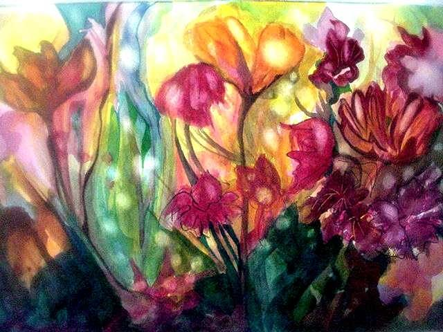 Flowers Painting - Fairy Lights by Carolyn LeGrand