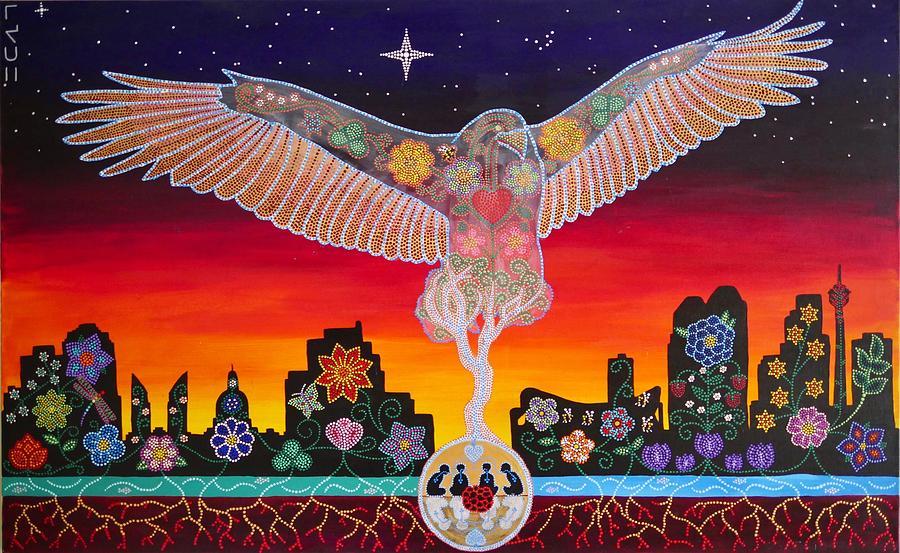 Indigenous Painting - Faith by Karlee Fellner