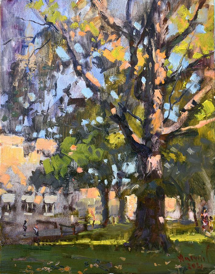 Falls Painting - Fall at the NACC by Ylli Haruni