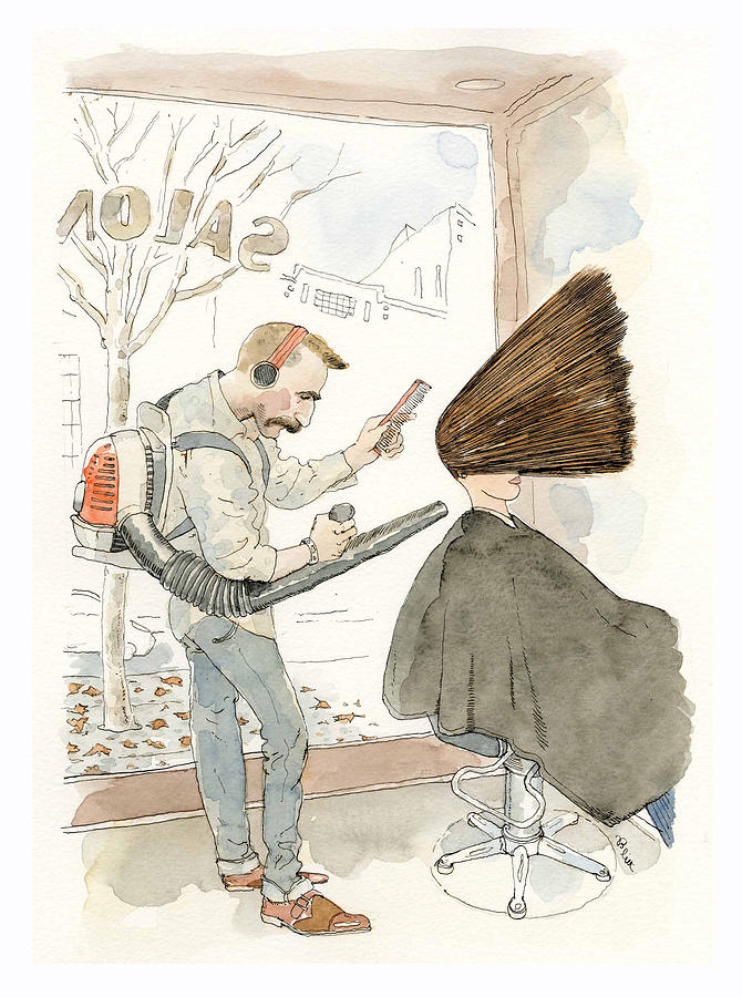 Fall Blowout Painting by Barry Blitt