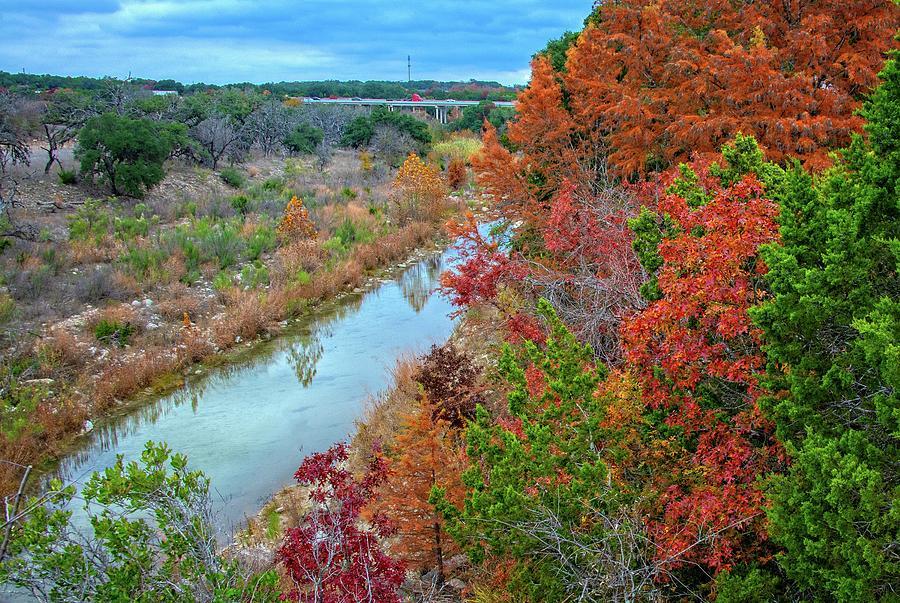 Fall Colors Along Big Joshua Creek by Lynn Bauer