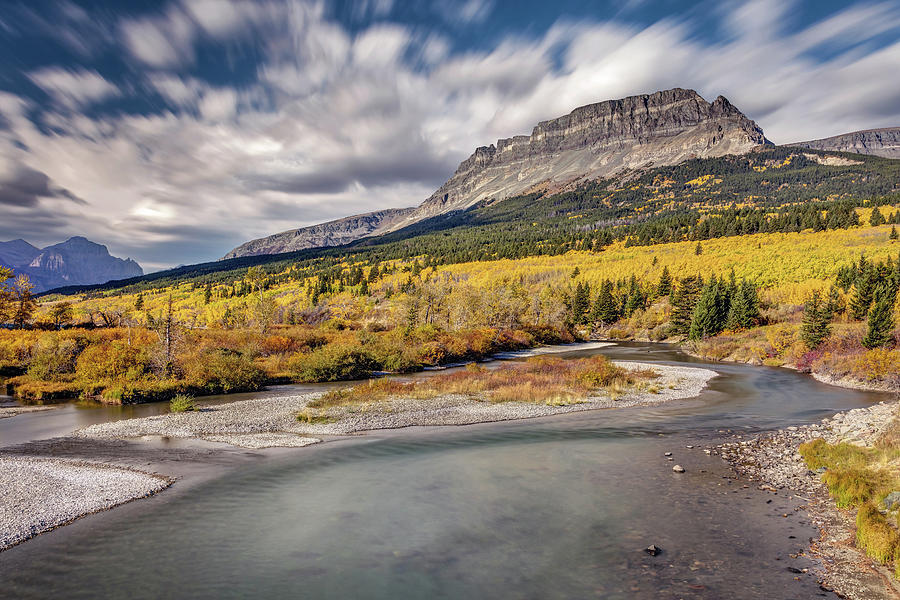 Fall Colors In Glacier National Park Montana Photograph