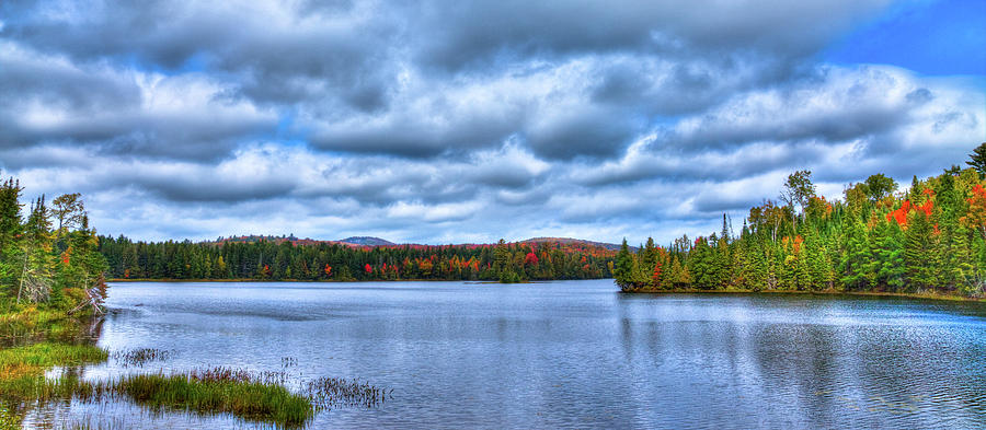Fall Colors on Lake Abanakee by David Patterson