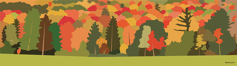 Fall Digital Art - Fall Forest by Marian Federspiel
