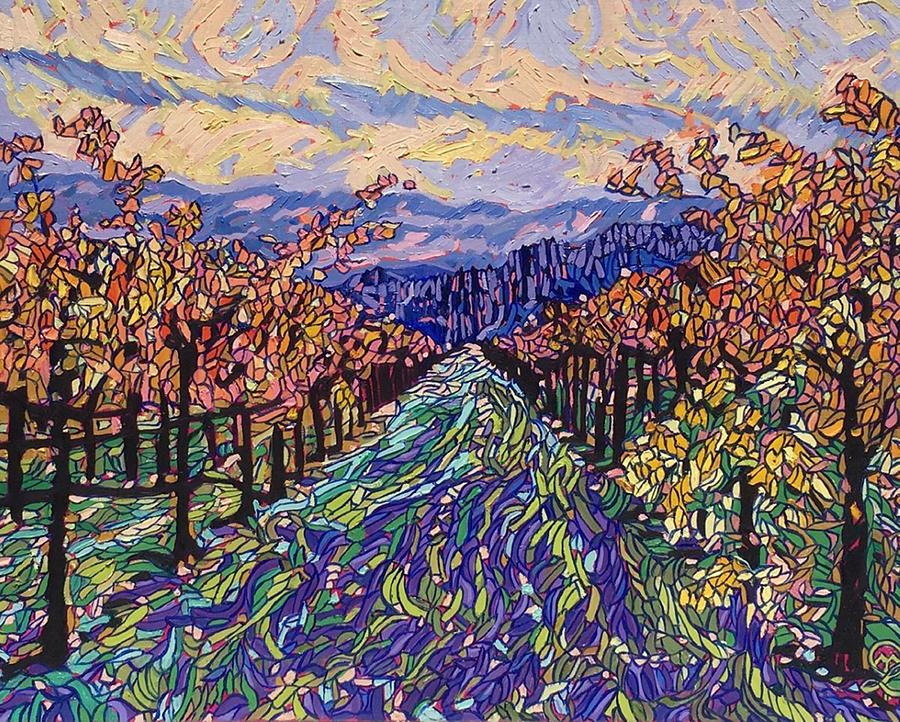 Napa Valley Painting - Fall in the vineyard by Therese Legere