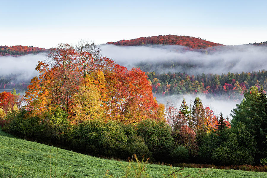 Fall Morning Mists of Vermont by Tim Kirchoff