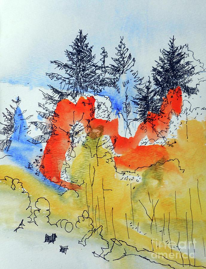 Fall Scene by John Fish