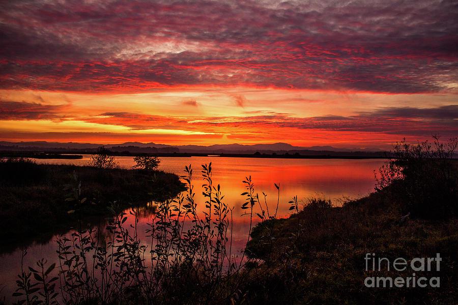 Sunset Photograph - Fall Sunset by Michael Cross