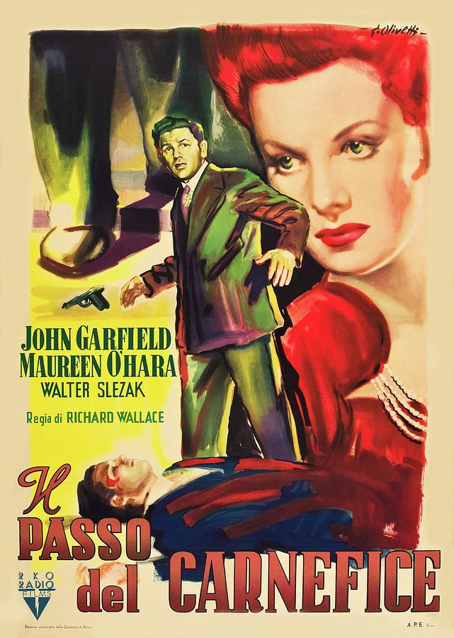 fallen Sparrow, With John Garfield And Maureen Ohara, 1943 Mixed Media