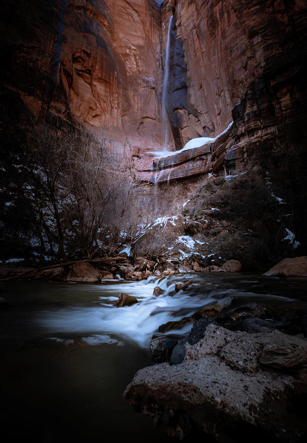 Snow Canyon State Park Photograph - Falling  by Paul Malen