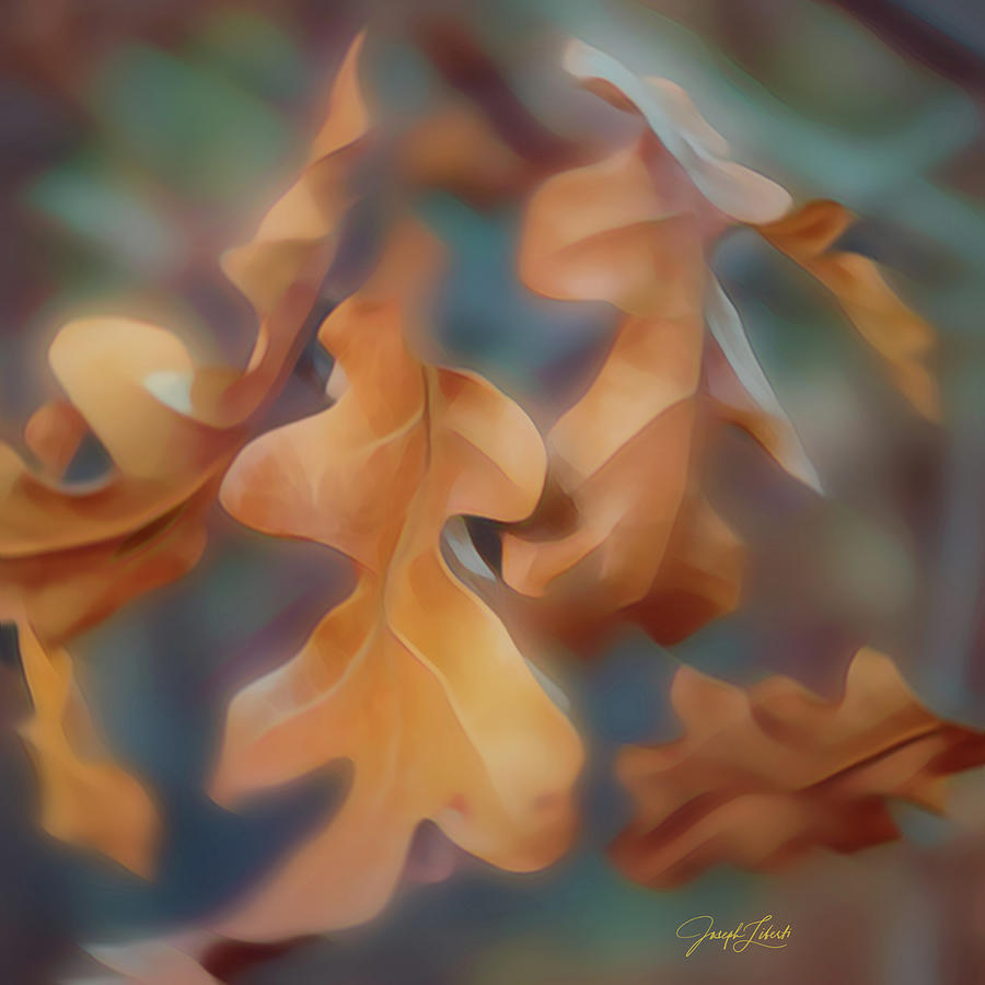 Peaceful Digital Art - Falling_Leaves_20210319 by Joseph Liberti