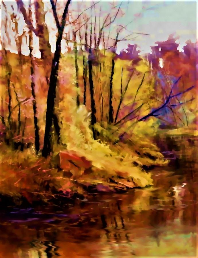Fall Landscape Painting - Falls Creek Colors by Joseph Barani