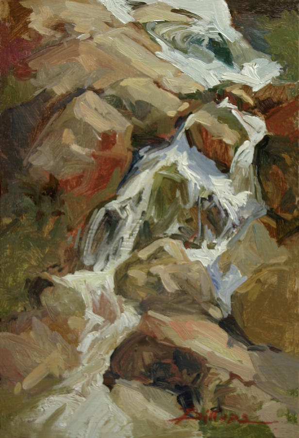 Falls on the West Fork Painting by Betty Jean Billups