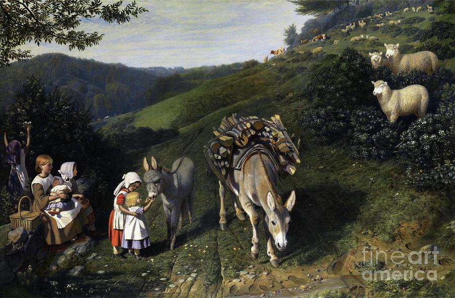 Family in Idyllic Countryside by Friedrich Wilhelm Keyl