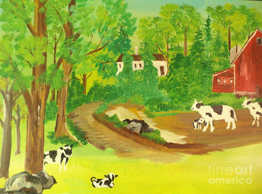 Family Of Cows by Donald Northup