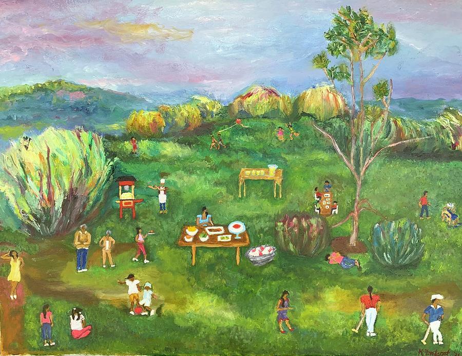 Family Painting - Family Reunion by Karen Fontenot