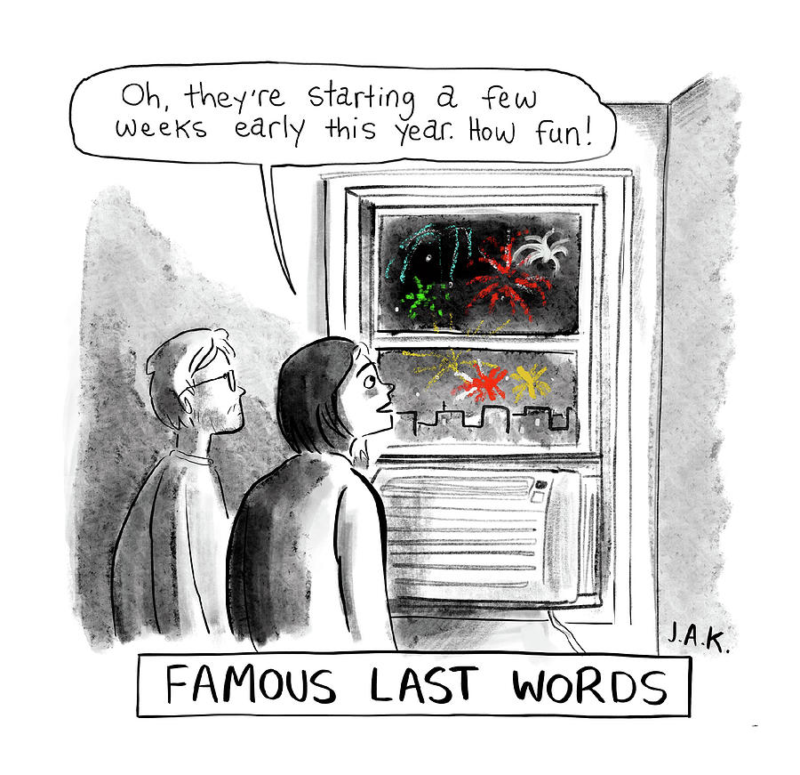 Famous Last Words Drawing by Jason Adam Katzenstein