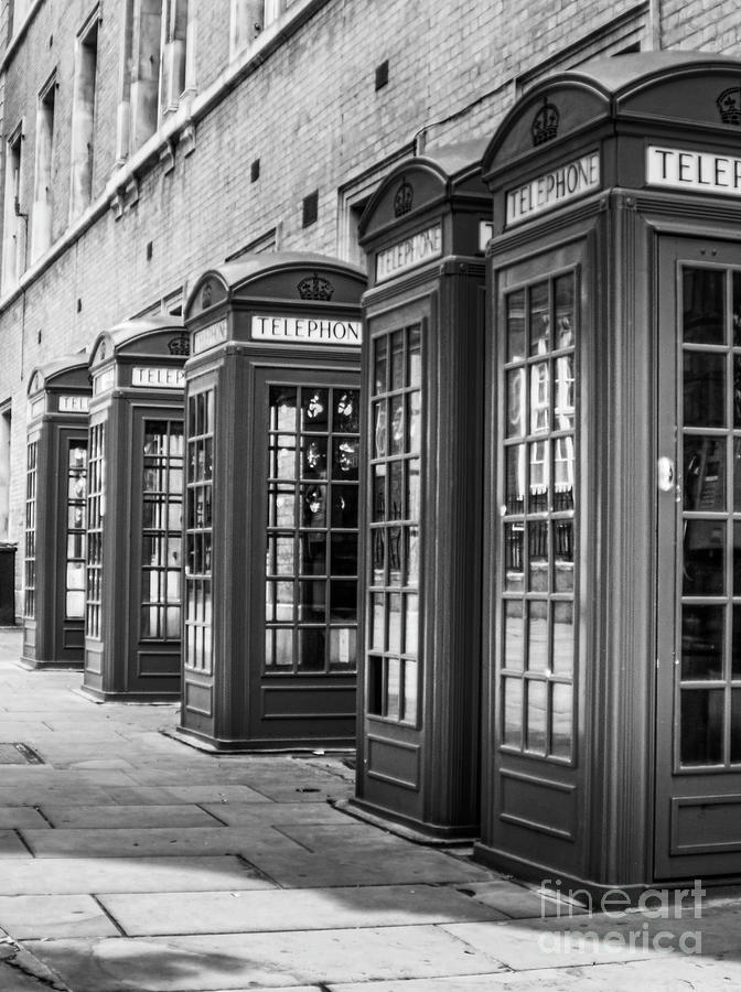 London Photograph - Famous London Phone booth by Micah May