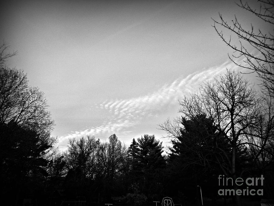 Fancy Clouds - Black and White by Frank J Casella