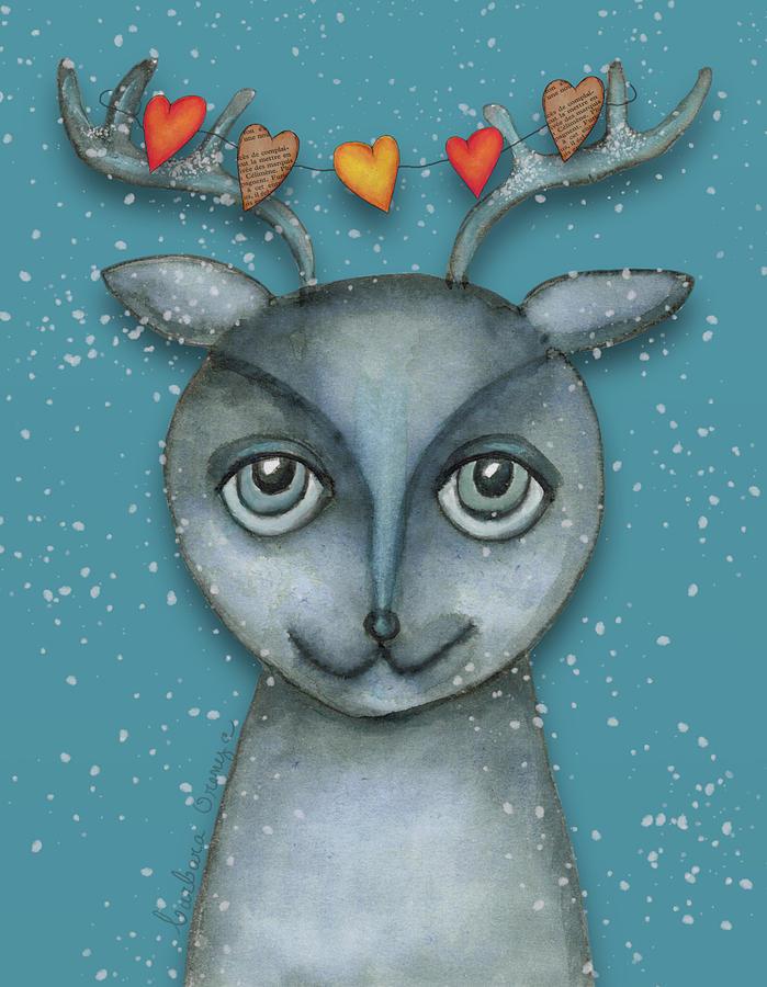 Fancy Reindeer by Barbara Orenya