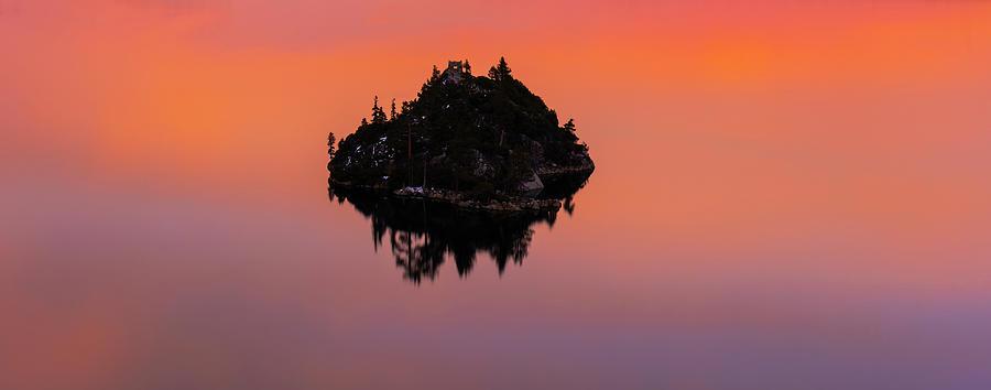 Fannette Island Lake Tahoe - Last Sunset of the decade by Brad Scott