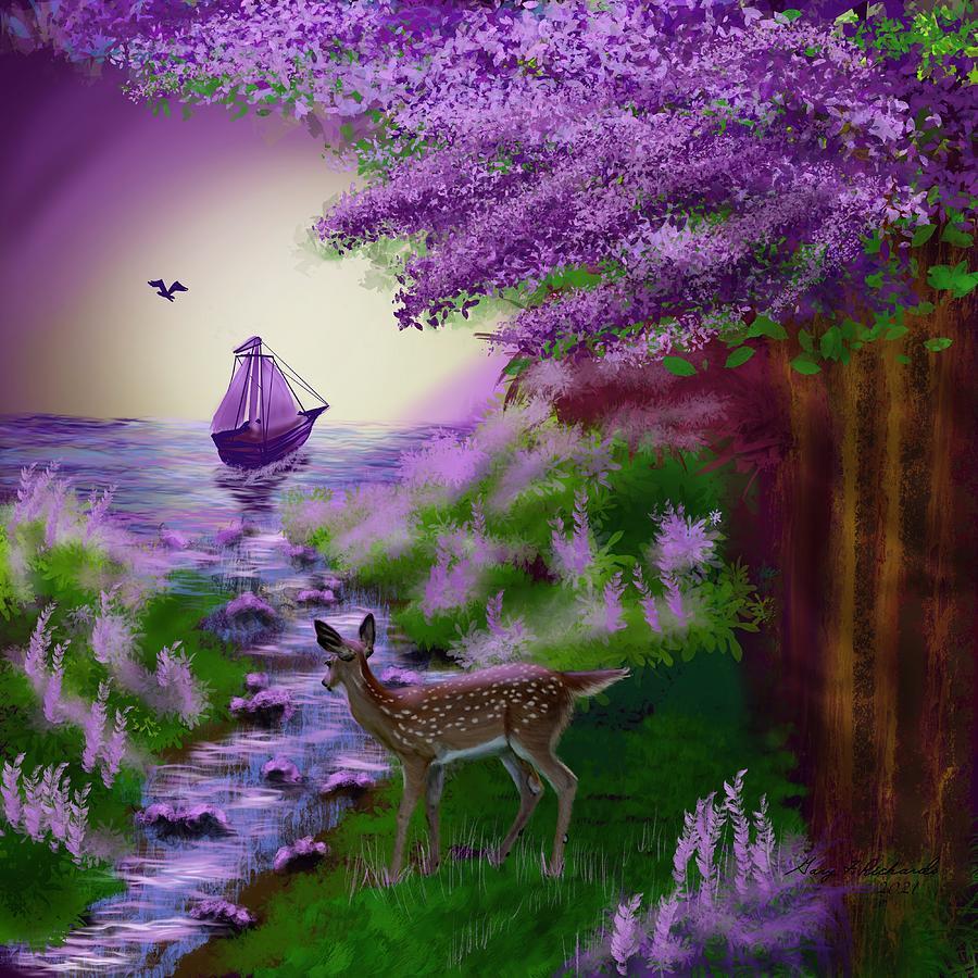 Fantasy Forest Sail Digital Art