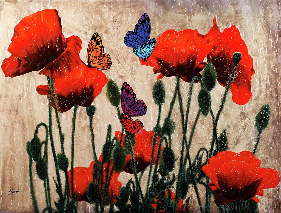 Papaveri E Farfalline Painting