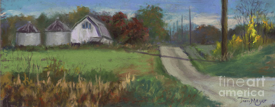 Farm Along The Road Painting