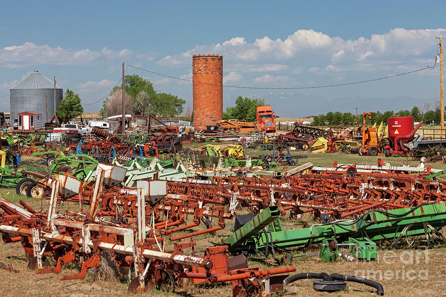 Farm Equipment Junkyard Photograph