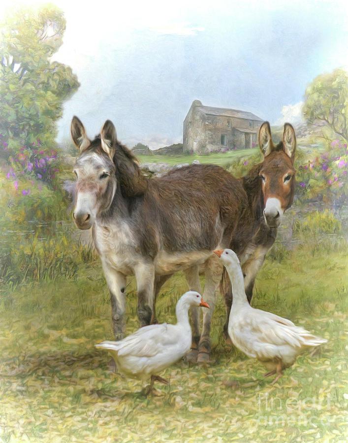Farm Friends Digital Art