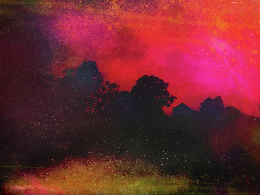 Farm Digital Art - Farm Haze by Krista Droop