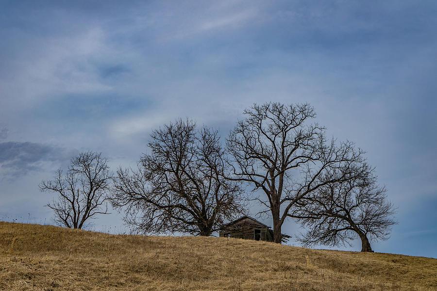 Landscape Photograph - Farm House On A Hill by Scott Smith