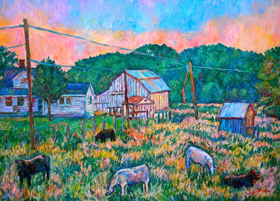Landscape Painting - Farm Near Fancy Gap by Kendall Kessler