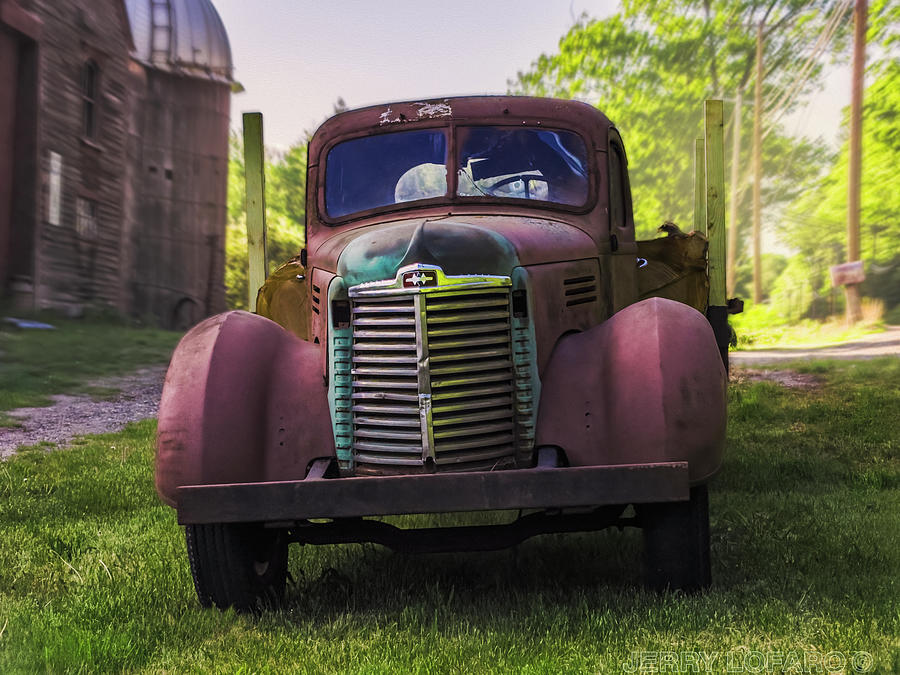 Barn Photograph - Farm Truck 2 by Jerry LoFaro