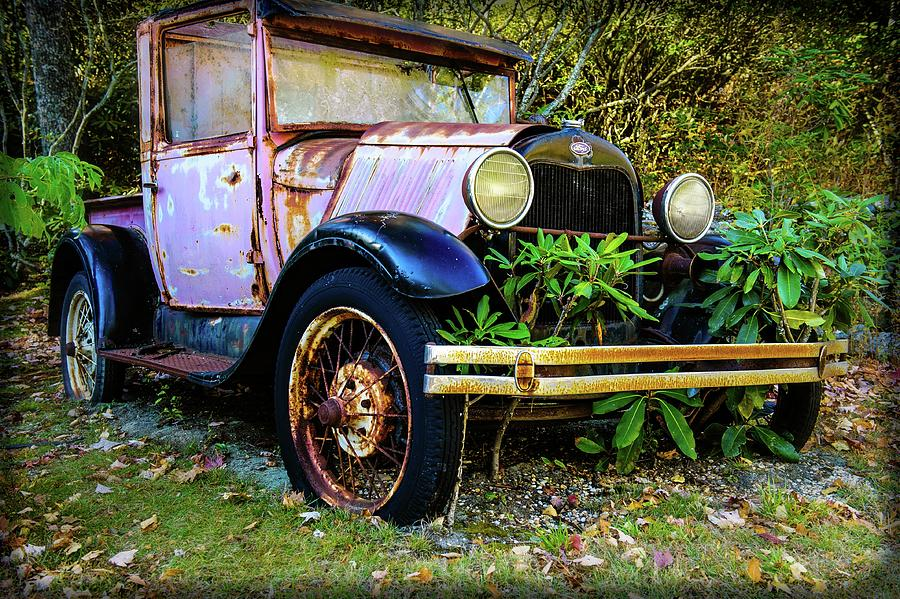 Fall Photograph - Old Farm Truck by Steven Norris
