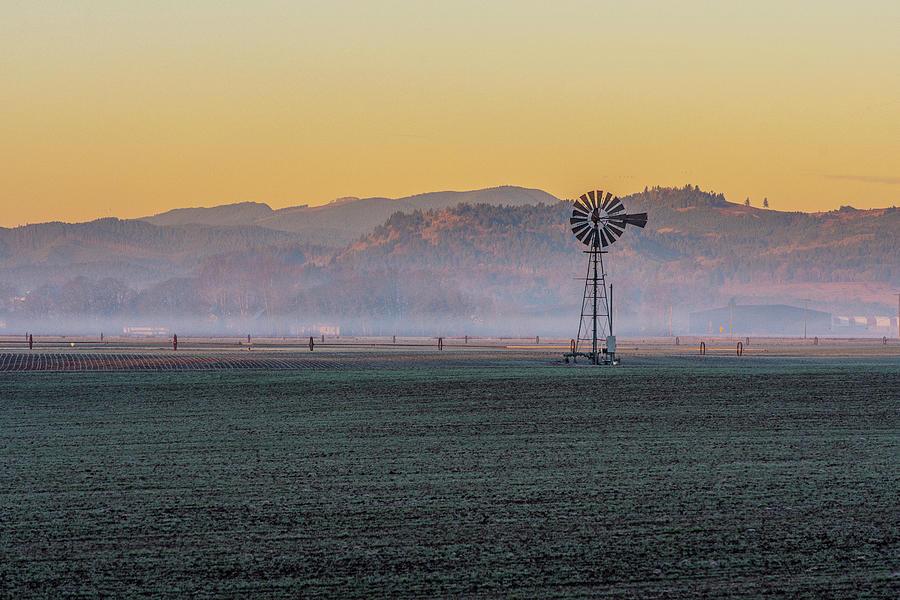 Farm Windmill at Dawn by Matthew Irvin