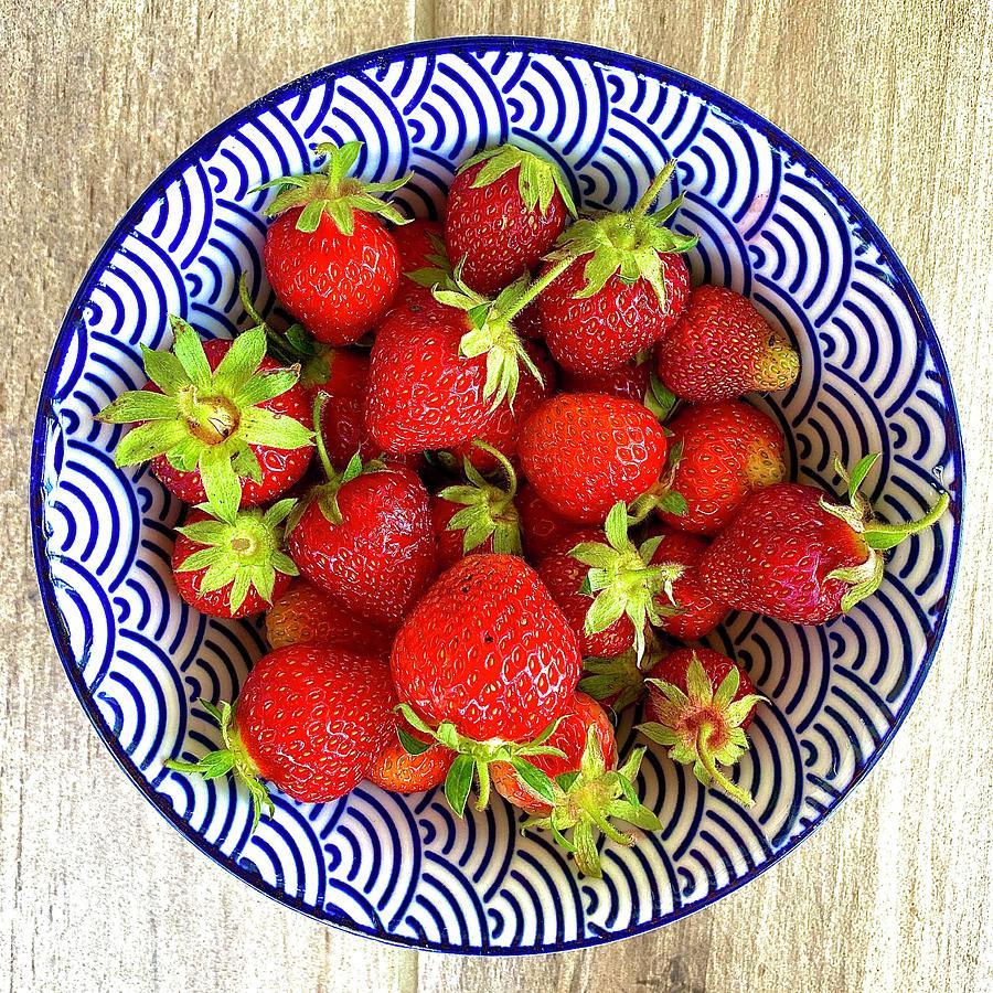 Strawberries Photograph - Farmhouse Strawberries by Margot Sappern