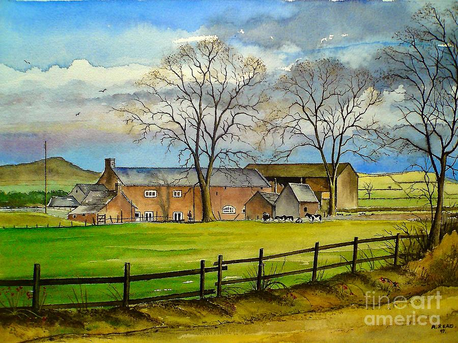 Farming In Staffordshire Painting