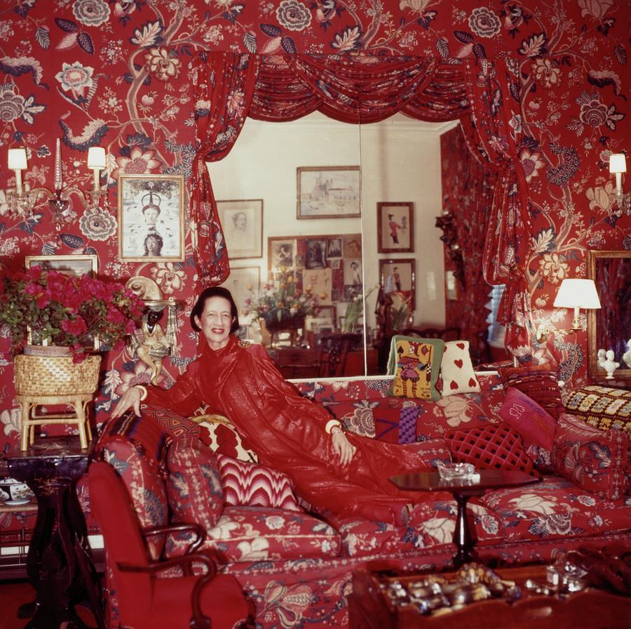 Fashion Editor Diana Vreeland at Home Photograph by Horst P Horst