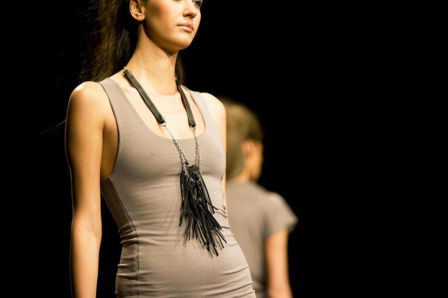 Fashion models on catwalk Photograph by Webphotographeer