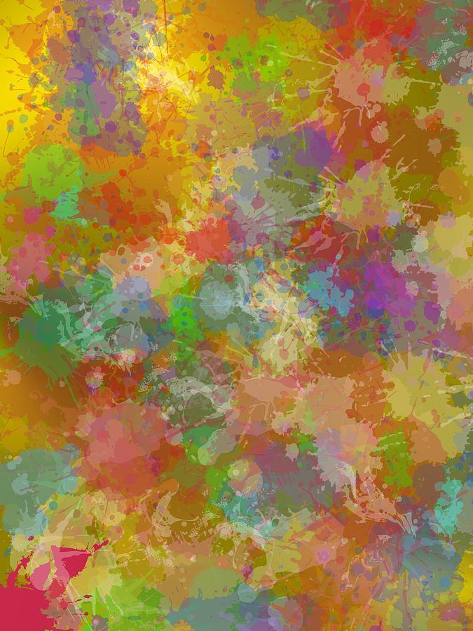 Fashion Paint Stain Background. Digital Art