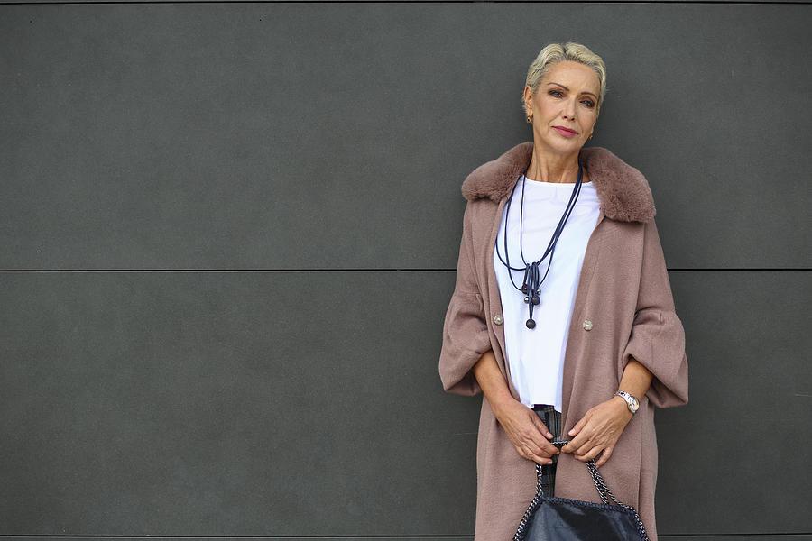 Fashionable mature woman portrait Photograph by Tomazl