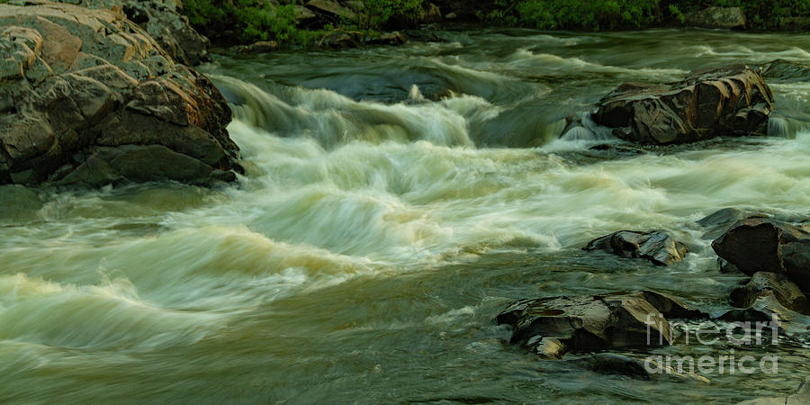 Fast water in the Missouri Ozarks by Garry McMichael