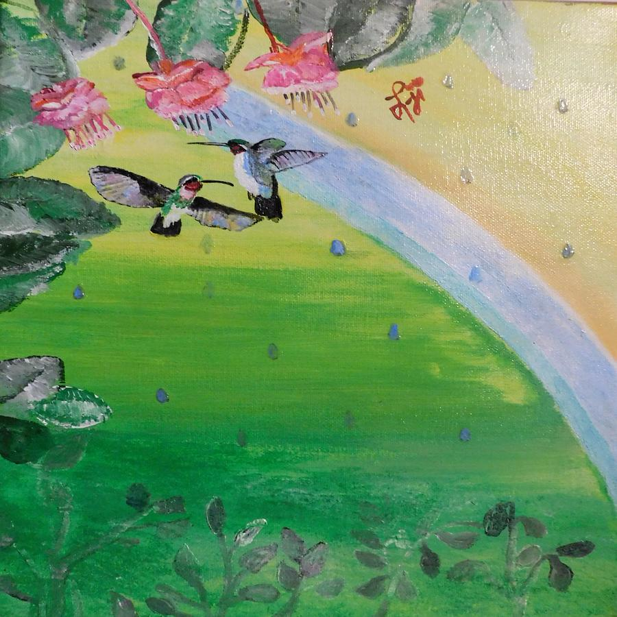 Favorable Flutter Painting by Lori Irving