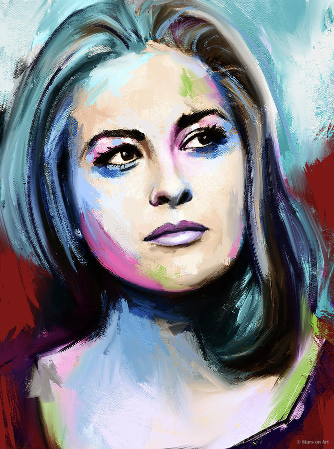 Faye Dunaway Painting Painting